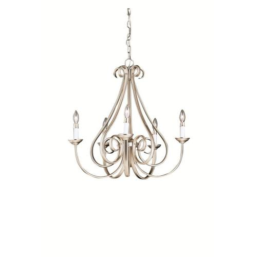 Kichler Lighting 2021 Dover - 5 light Chandelier no Shades - with Transitional inspirations - 24.5 inches tall by 25 inches wide