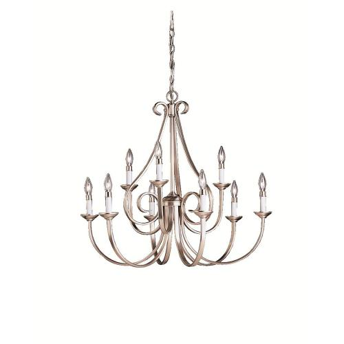 Kichler Lighting 2031 Dover - 9 light Chandelier - with Transitional inspirations - 29 inches tall by 32 inches wide