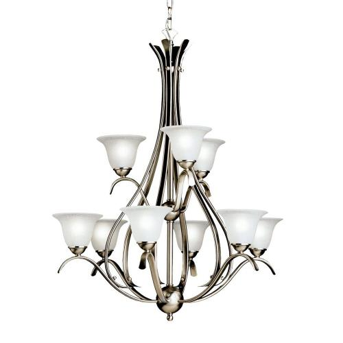 Kichler Lighting 2520 Dover - 9 light Chandelier - with Transitional inspirations - 37 inches tall by 27.75 inches wide