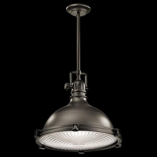Kichler Lighting 2691 Hatteras Bay - 1 light Pendant - with Vintage Industrial inspirations - 19.5 inches tall by 23.75 inches wide
