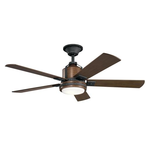 Kichler Lighting 300052 Colerne - Ceiling Fan with Light Kit - with Transitional inspirations - 17 inches tall by 52 inches wide