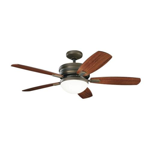 Kichler Lighting 300238 Carlson - Ceiling Fan with Light Kit - with Transitional inspirations - 16.5 inches tall by 52 inches wide