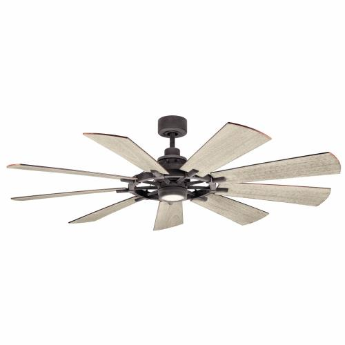 Kichler Lighting 300265 Gentry - Ceiling Fan with Light Kit - with Lodge/Country/Rustic inspirations - 16.5 inches tall by 65 inches wide