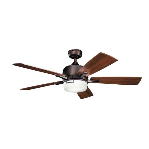 Kichler Lighting 300457 Leeds - Ceiling Fan with Light Kit - with Transitional inspirations - 17 inches tall by 52 inches wide