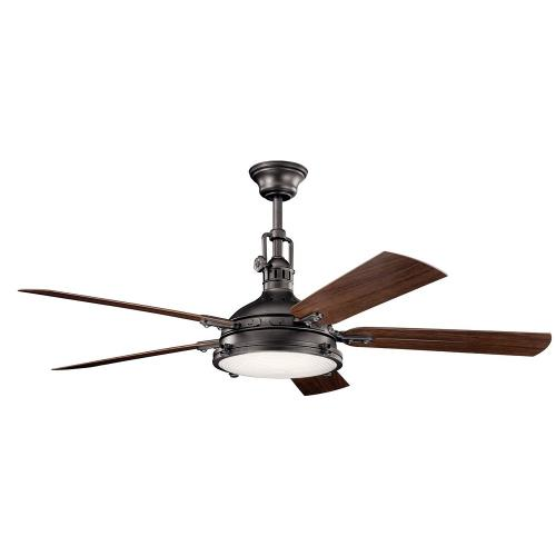 Kichler Lighting 310017 Hatteras Bay - Ceiling Fan with Light Kit - with Traditional inspirations - 17.5 inches tall by 60 inches wide