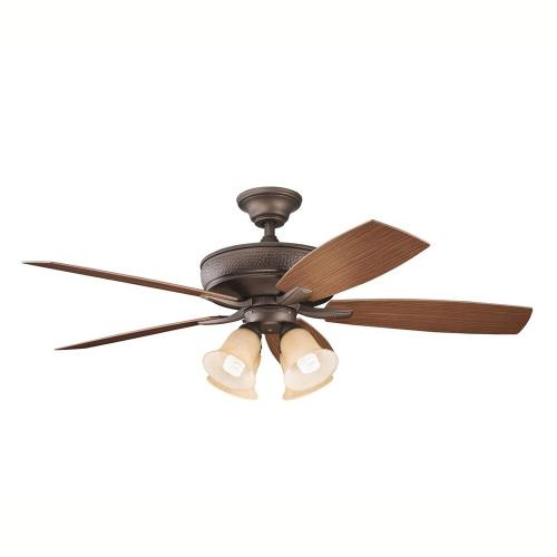 Kichler Lighting 310103 Monarch II Patio - Ceiling Fan - with Transitional inspirations - 14.5 inches tall by 52 inches wide