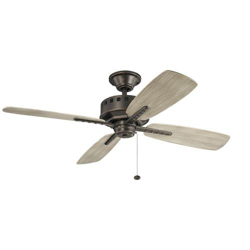 Kichler Lighting 310152 Eads - Ceiling Fan - with Utilitarian inspirations - 14 inches tall by 52 inches wide