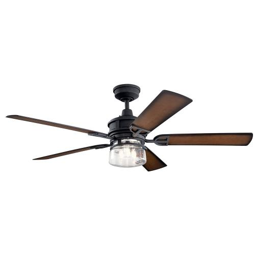 Kichler Lighting 310240 Lyndon Patio - Ceiling Fan with Light Kit - with Transitional inspirations - 19 inches tall by 60 inches wide