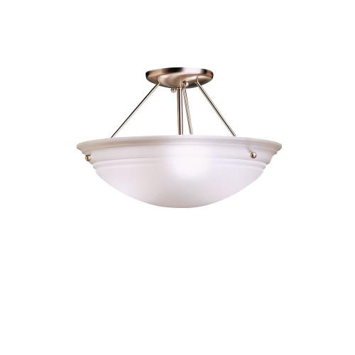 Kichler Lighting 3122NI Family Spaces - 3 light Semi-Flush Mount - with Transitional inspirations - 9.75 inches tall by 15 inches wide