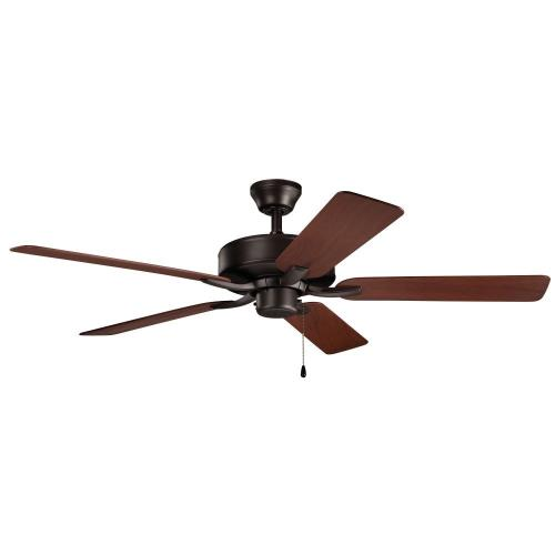 Kichler Lighting 330015 Basics Pro Patio - Ceiling Fan - with Traditional inspirations - 12.5 inches tall by 52 inches wide