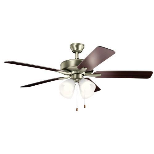 Kichler Lighting 330016 Basics Pro Premier - 52 Inch Ceiling Fan with Light Kit