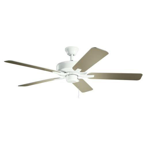 Kichler Lighting 330018 Basics Pro - Ceiling Fan - with Traditional inspirations - 12.5 inches tall by 52 inches wide
