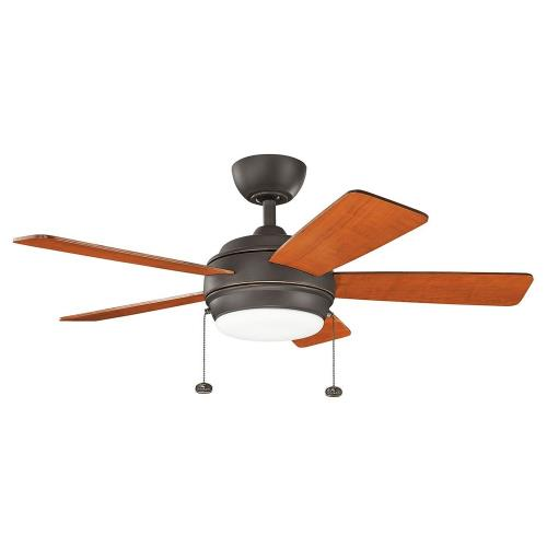 Kichler Lighting 330171 Starkk - Ceiling Fan with Light Kit - 13.75 inches tall by 42 inches wide