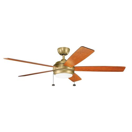 Kichler Lighting 330180 Starkk - Ceiling Fan with Light Kit - 14.25 inches tall by 60 inches wide