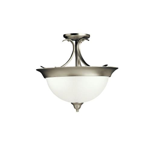 Kichler Lighting 3623 Dover - 3 light Semi-Flush Mount - with Transitional inspirations - 14 inches tall by 15.25 inches wide