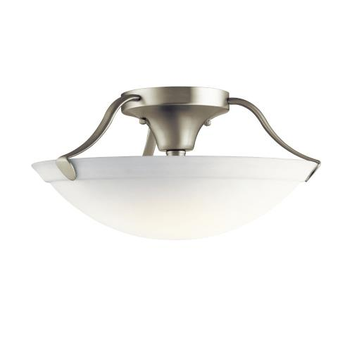 Kichler Lighting 3627 3 light Semi-Flush Mount - with Transitional inspirations - 7.75 inches tall by 15.5 inches wide