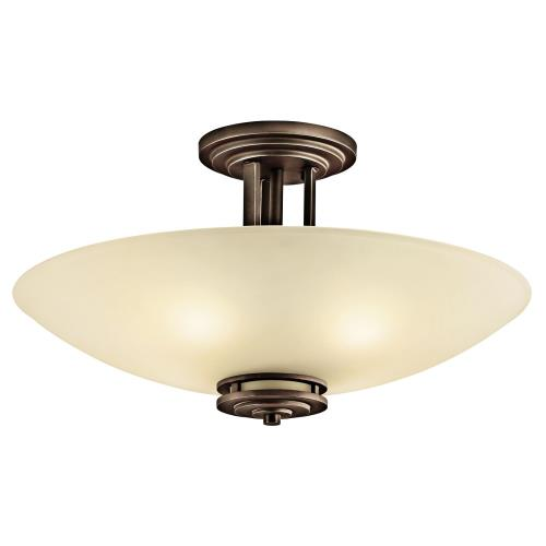 Kichler Lighting 3677 Hendrik - 4 light Semi-Flush Mount - with Soft Contemporary inspirations - 12.25 inches tall by 24 inches wide