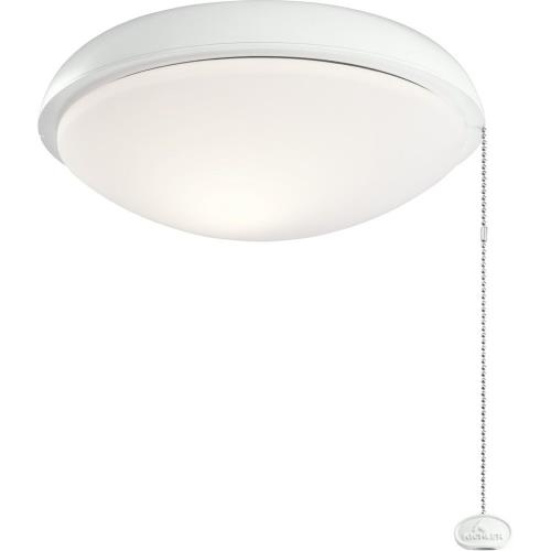 Kichler Lighting 380911 Climated Slim Profile - 9W 1 LED Ceiling Fan Light Kit - with Traditional inspirations - 4.5 inches tall by 11 inches wide