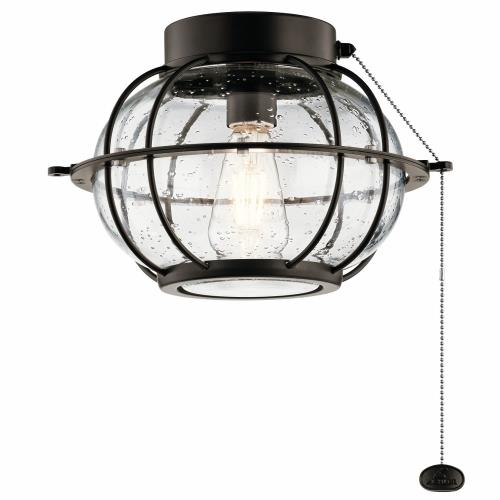 Kichler Lighting 380945 Bridge Point - 7W 1 LED Ceiling Fan Light Kit - with Transitional inspirations - 8.25 inches tall by 12.5 inches wide
