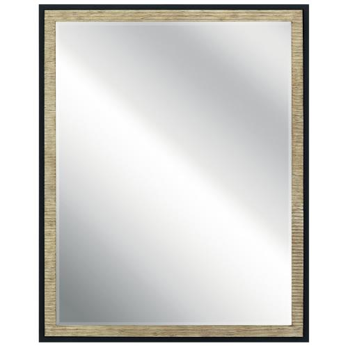 Kichler Lighting 41122 Millwright - Square Mirror - with Lodge/Country/Rustic inspirations - 30 inches tall by 24 inches wide