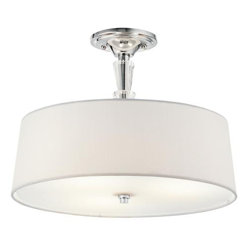 Kichler Lighting 42035CH Crystal Persuasion - 3 light Semi-Flush Mount - with Transitional inspirations - 11.5 inches tall by 15 inches wide