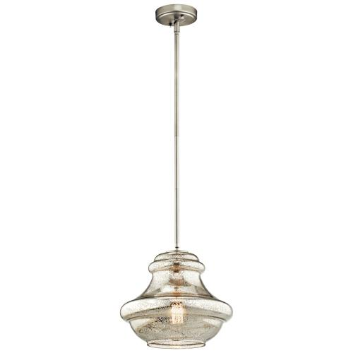Kichler Lighting 42044CH Everly - 1 light Pendant - with Transitional inspirations - 10.25 inches tall by 12 inches wide