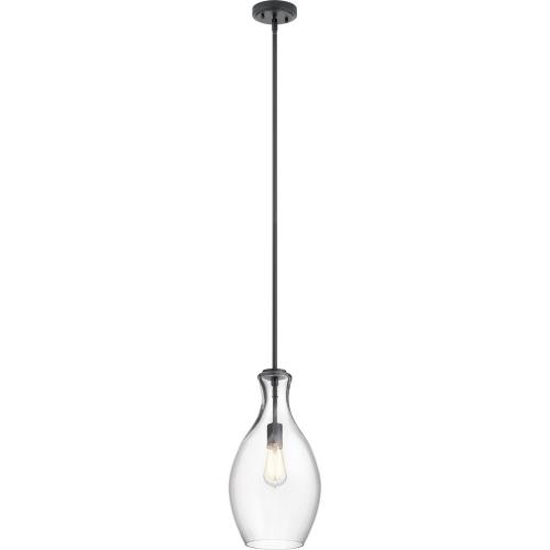 Kichler Lighting 42047 Everly - 1 light Pendant - with Transitional inspirations - 17.75 inches tall by 8.75 inches wide