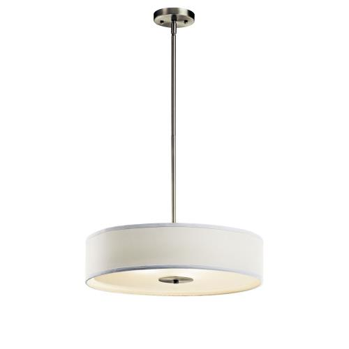Kichler Lighting 42121 3 light Inverted Pendant - with Transitional inspirations - 5.5 inches tall by 20 inches wide