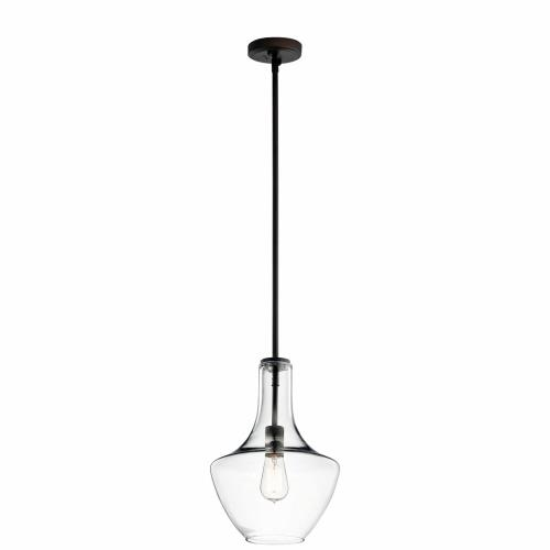 Kichler Lighting 42141 Everly - 1 light Pendant - with Transitional inspirations - 15.25 inches tall by 10.5 inches wide