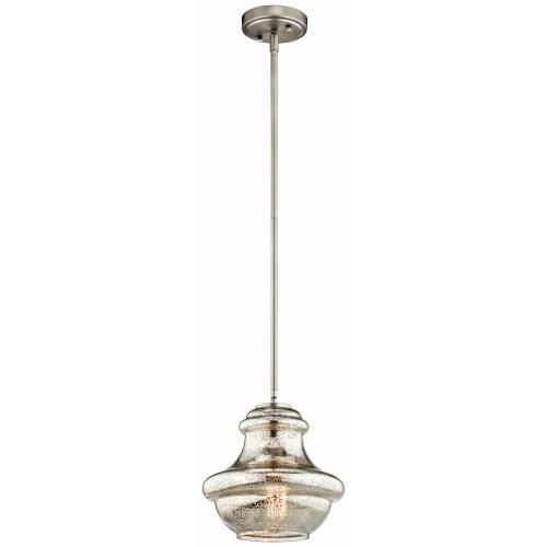 Kichler Lighting 42167 Everly - 1 light Mini-Pendant - with Transitional inspirations - 9.25 inches tall by 9.5 inches wide