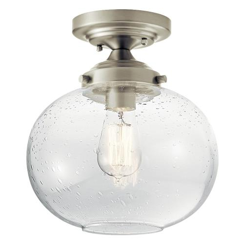 Kichler Lighting 42296 Avery - 1 light Semi-Flush Mount - with Vintage Industrial inspirations - 10.75 inches tall by 9.75 inches wide
