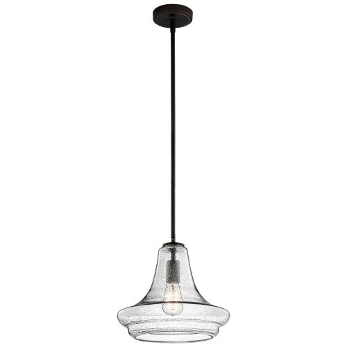 Kichler Lighting 42328 Everly - 1 light Pendant - with Transitional inspirations - 11 inches tall by 12.5 inches wide