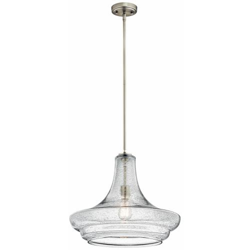 Kichler Lighting 42329 Everly - 1 light Pendant - with Transitional inspirations - 15.5 inches tall by 19 inches wide