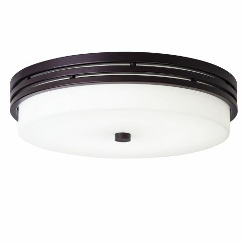 Kichler Lighting 42380 Ceiling Space - 1 Light Flush Mount Steel - with Transitional inspirations - 3.25 inches tall by 14 inches wide