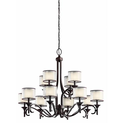 Kichler Lighting 42383 Lacey - Twelve Light 2-Tier Chandelier - with Transitional inspirations - 31.75 inches tall by 42 inches wide