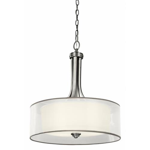 Kichler Lighting 42385 Lacey - 4 light Inverted Drum Shade Pendant - with Transitional inspirations - 23.5 inches tall by 20 inches wide