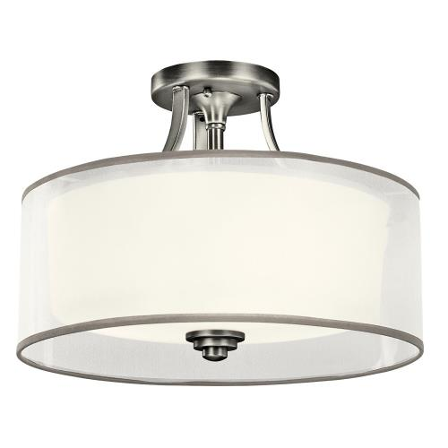 Kichler Lighting 42386 Lacey - 3 light Semi-Flush Mount - with Transitional inspirations - 10.75 inches tall by 15 inches wide