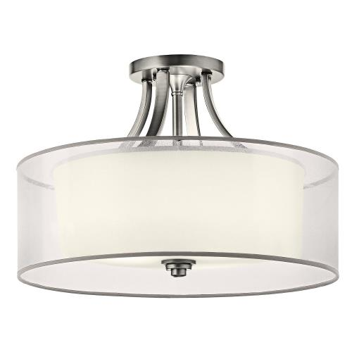 Kichler Lighting 42387 Lacey - 4 light Semi-Flush Mount - with Transitional inspirations - 13 inches tall by 20 inches wide