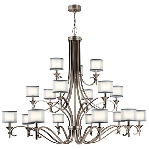 Kichler Lighting 42396 Lacey - Eighteen Light 3-Tier Chandelier - with Transitional inspirations - 53 inches tall by 62 inches wide