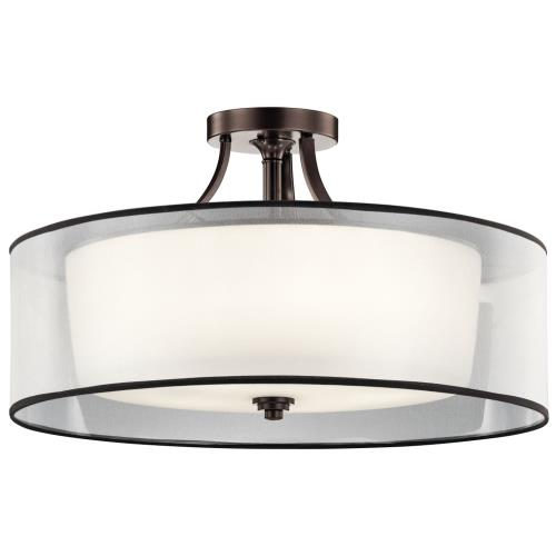 Kichler Lighting 42399 Lacey - 5 light Semi-Flush Mount - with Transitional inspirations - 15.25 inches tall by 28 inches wide