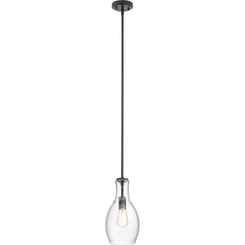 Kichler Lighting 42456 Everly - 1 Light Mini Pendant - with Transitional inspirations - 13.75 inches tall by 7 inches wide