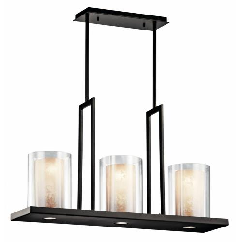 Kichler Lighting 42547 Triad - 3 light Linear Chandelier - 18 inches tall by 7.75 inches wide