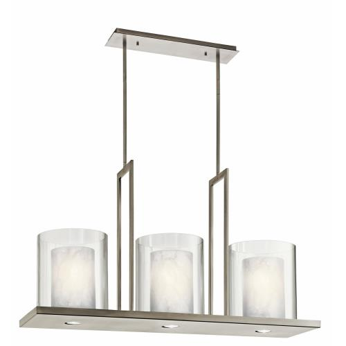 Kichler Lighting 42548 Triad - 3 light Linear Chandelier - 23 inches tall by 11.5 inches wide