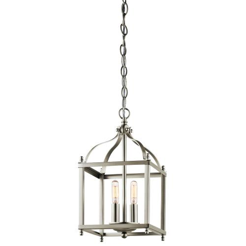 Kichler Lighting 42565 Larkin - 2 light Cage Foyer - with Traditional inspirations - 14.75 inches tall by 8 inches wide
