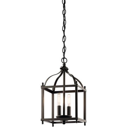 Kichler Lighting 42565OZ Larkin - Two Light Cage Foyer