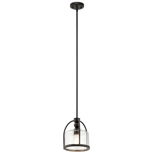 Kichler Lighting 42798 1 light Mini Pendant - with Transitional inspirations - 10.75 inches tall by 9.5 inches wide