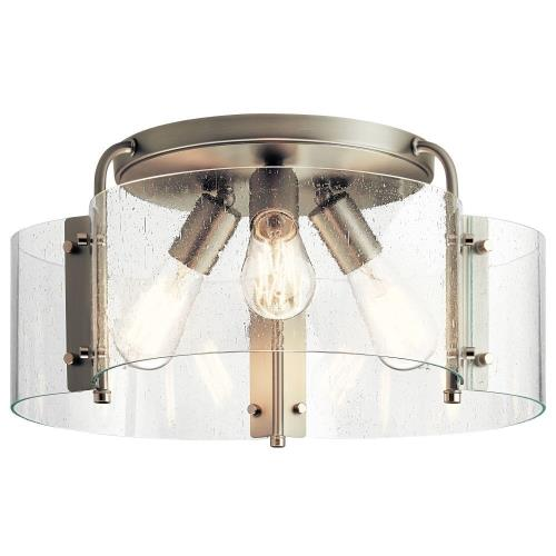 Kichler Lighting 42955 Thoreau - 3 light Semi-Flush Mount - 8.5 inches tall by 18 inches wide