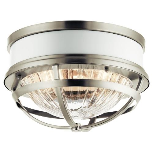 Kichler Lighting 43013 Tollis - 2 light Flush Mount - 7.75 inches tall by 12 inches wide