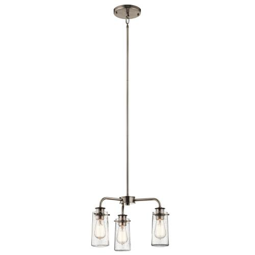 Kichler Lighting 43057 Braelyn - 3 Light Semi-Flush Mount - with Vintage Industrial inspirations - 11.25 inches tall by 17.75 inches wide