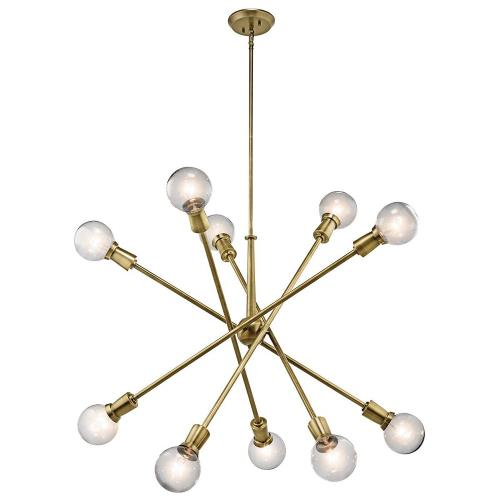 Kichler Lighting 43119 Armstrong - 10 Light Large Chandelier - with Contemporary inspirations - 53.5 inches tall by 47 inches wide